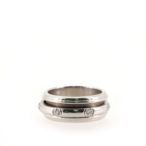 Piaget Possession Band Ring 18K White Gold with Diamonds .35CT