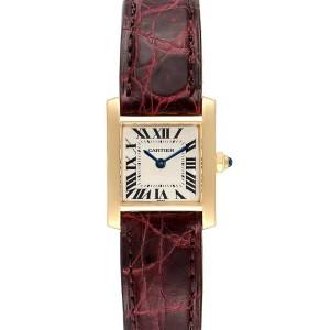Cartier Tank Francaise Yellow Gold Quartz Ladies Watch W50002N2