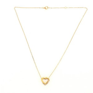 Cartier Trinity Heart Pendant Necklace 18K Tricolor Gold