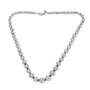 145aa80db 925 Sterling Silver Ball Bead Necklace | Tiffany & Co. | Buy at TrueFacet