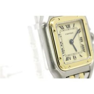 Cartier Panthere 18K Gold Steel Quartz Womens Watch