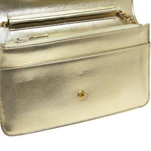 Chanel CC Chain Shoulder Wallet Bag Purse Gold Leather Vintage