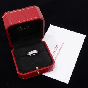 Cartier Love PT950 Platinum Ring Size 8.75