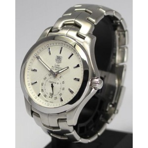 Tag Heuer Link Calibre WJF-211B Stainless Steel White Dial Automatic 39mm Men's Watch