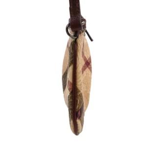 Burberry PVC,Leather Check Emboss Hand Bag