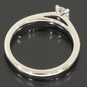 De Beers DB Classic Solitaire Diamonds Ring Platinum Pt950 US5.75