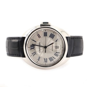 Cartier Cle de Cartier Automatic Watch White Gold and Alligator 40