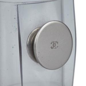 Chanel Plastic & Silver Tone Hardware Clear Cuff Ring Size 5.25