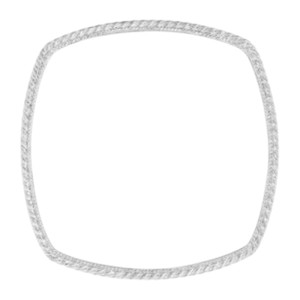 Judith Ripka Sterling Silver Cable Square Bangle Bracelet