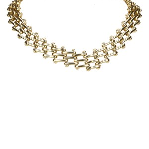 Dior Gold Tone Metal Choker Necklace