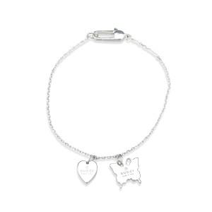 Gucci 925 Sterling Silver Charm Bracelet