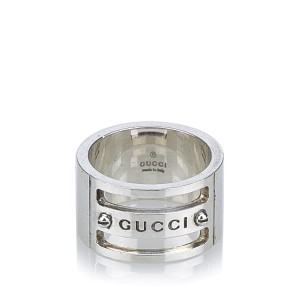Gucci 925 Sterling Silver Ring Size 6.5
