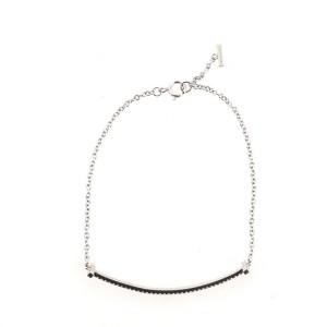Tiffany & Co. T Smile Chain Bracelet 18K White Gold with Diamonds Large