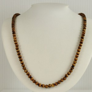 "David Yurman Sterling Silver 24"" Tiger's Eye Spiritual Bead Necklace"
