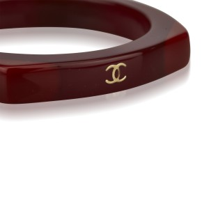 Chanel Gold Tone Hardware and Resin Bangle Bracelet