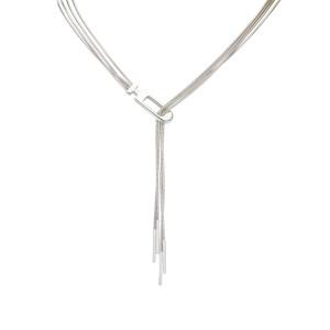 Gucci Silver Tone Hardware Chain Necklace