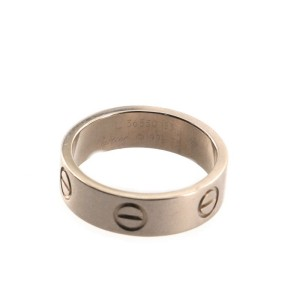Cartier Love Band Ring 18K White Gold 6.25 - 53