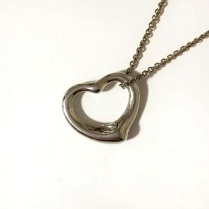 TIFFANY & Co. Silver Open Heart Necklace
