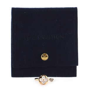 Louis Vuitton Color Blossom Mini Sun Ring 18K Rose Gold with Mother of Pearl and Diamond 5.25 - 50