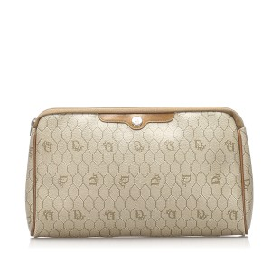 Honeycomb Coated Canvas Clutch Bag