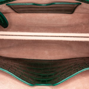 Heroine 21 Embossed Leather Satchel
