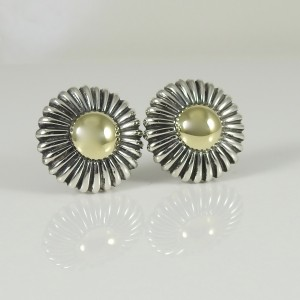 Lagos Caviar 18K Yellow Gold Sterling Silver Dome Earrings