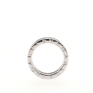 Bvlgari B.Zero1 Two Band Ring 18K White Gold 6.25 - 53