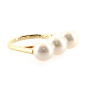 Tasaki Balance Era Ring 18K Yellow Gold with Pearls