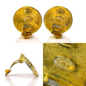 Chanel Gold Tone Metal CC Mark Clip-on Earrings