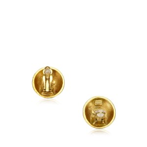 Chanel CC Gold-Tone Clip On Earrings