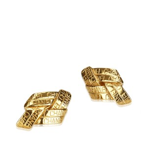 Chanel Gold Toned Clip On Earrings