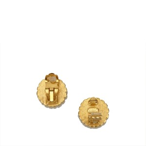 Chanel Gold Tone CC Clip On Earrings