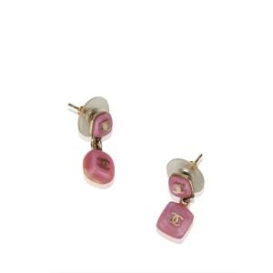 Chanel CC Push Back Drop Earrings