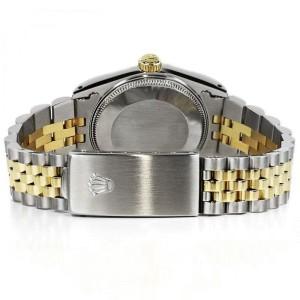 Rolex 36mm Datejust White Diamond Dial Jubilee Bracelet