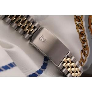 Rolex 36mm Datejust Two Tone Silver Color Diamond Dial 16013