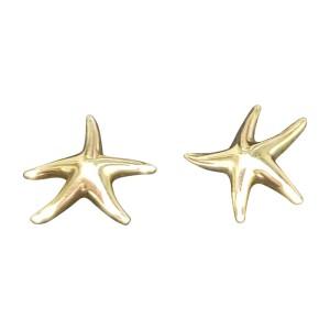 Elsa Peretti 18k Yellow Gold Starfish Stud Earrings