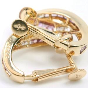 18k yellow gold/sapphire Earring
