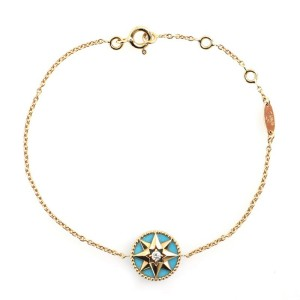 Christian Dior Rose des Vents Bracelet 18K Yellow Gold with Diamond and Turquoise