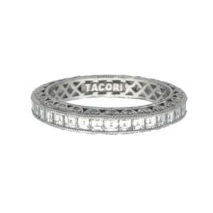 Tacori Platinum Eternity 1.60ctw Diamond Ring Size 6.25