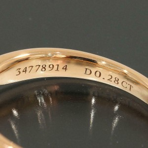 Tiffany & Co. 18K Rose Gold Diamond Harmony Ring TNN-1674