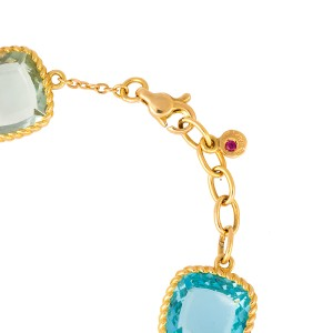 Roberto Coin Ipanema 18K Yellow Gold with 4.15ct Semi Precious Stones Bracelet