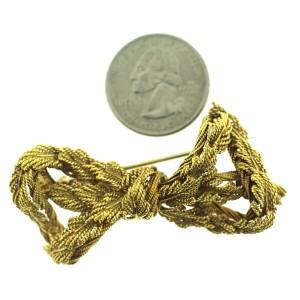Tiffany & Co. 18K Yellow Gold Rope Twist Bow Brooch