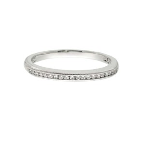 Tacori Platinum Channel Set .11ctw Diamond Ring Size 6.5