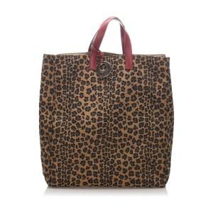 Leopard Print Nylon Tote Bag
