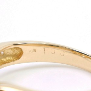 18k yellow gold/diamond Floral Flower motif Ring