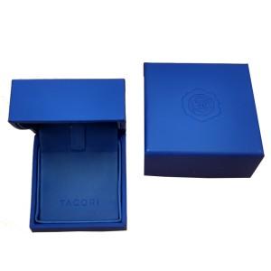 Tacori 18K White Gold Garnet .61ctw Diamond Ring Size 6.5