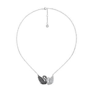 Swarovski Two Tone Double Swans Necklace