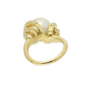 South Sea pearl Diamond 18K yellow gold Ring