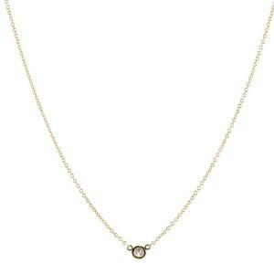 Tiffany & Co. Elsa Peretti Diamonds By The Yard Pendant Necklace 18K Yellow Gold and Diamond 0.14CT