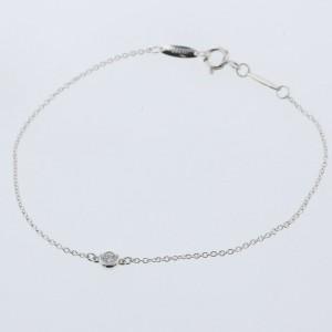 TIFFANY & Co. 1P daimond/silver By The Yard bracelet